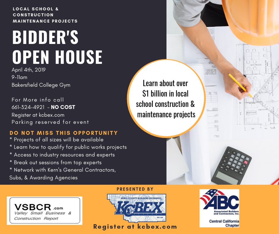 BIDDER'S OPEN HOUSE - Local School Construction & Maintenance Projects